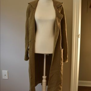 ATM hooded duster cardigan